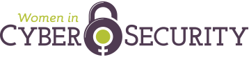 The WiCyS logo in 2017—a combination lock with the female gender symbol as its dial.